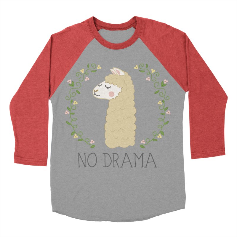 No Drama Llama Men's Longsleeve T-Shirt by Calobee Doodles