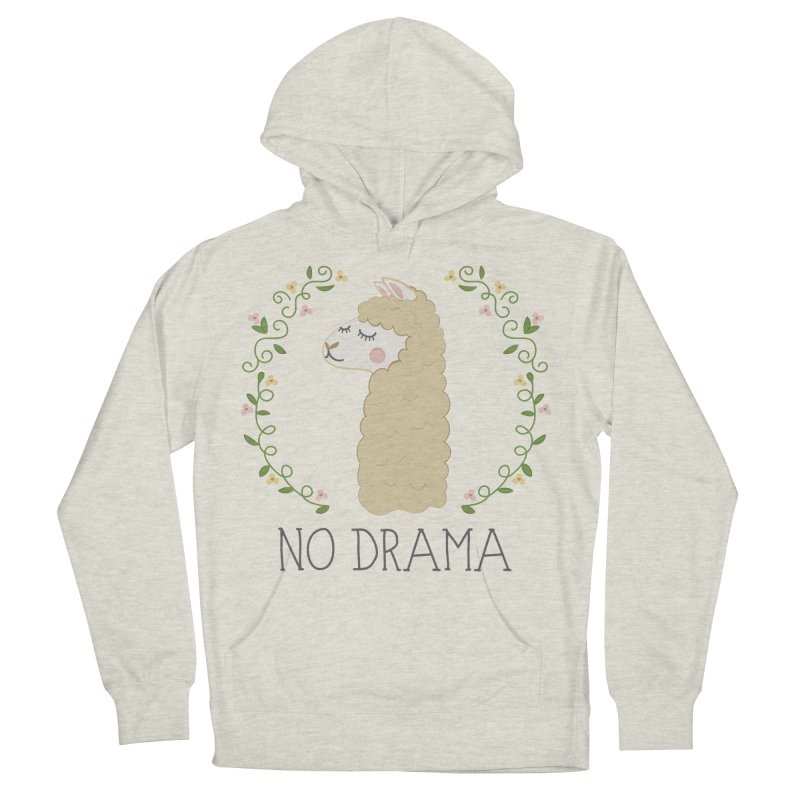 No Drama Llama Men's French Terry Pullover Hoody by Calobee Doodles
