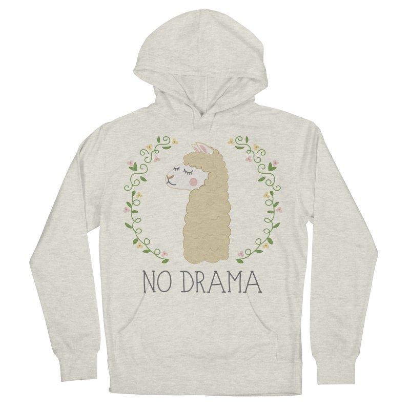 No Drama Llama Men's Pullover Hoody by Calobee Doodles