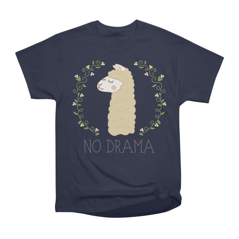 No Drama Llama Men's Heavyweight T-Shirt by Calobee Doodles