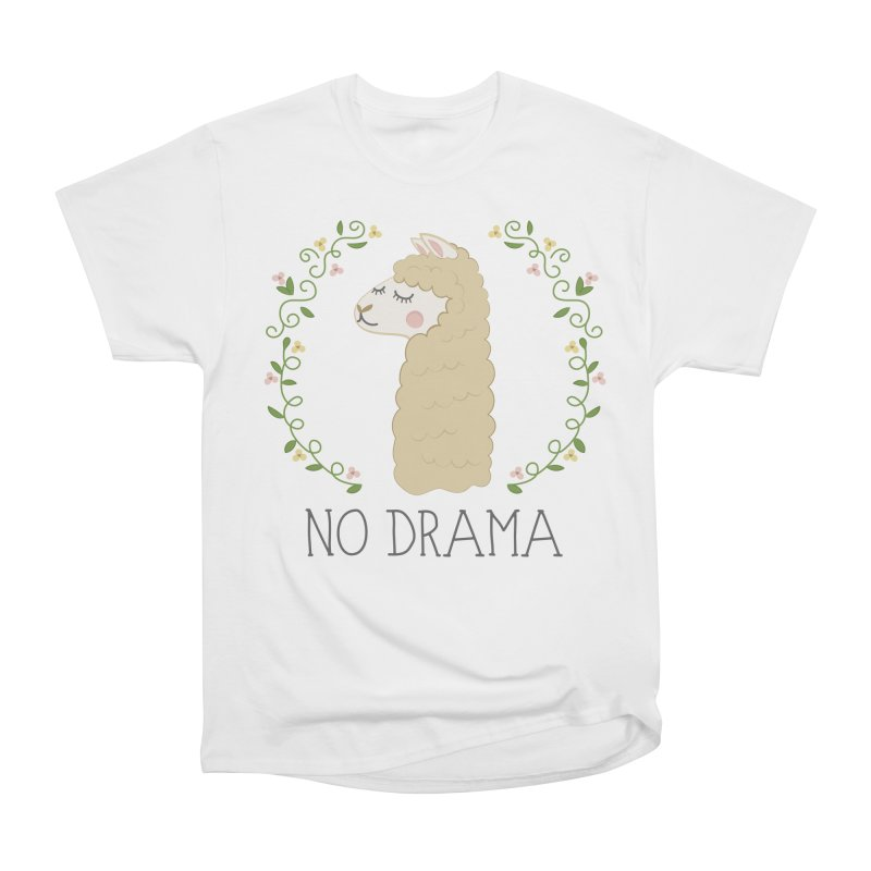 No Drama Llama Women's Heavyweight Unisex T-Shirt by Calobee Doodles