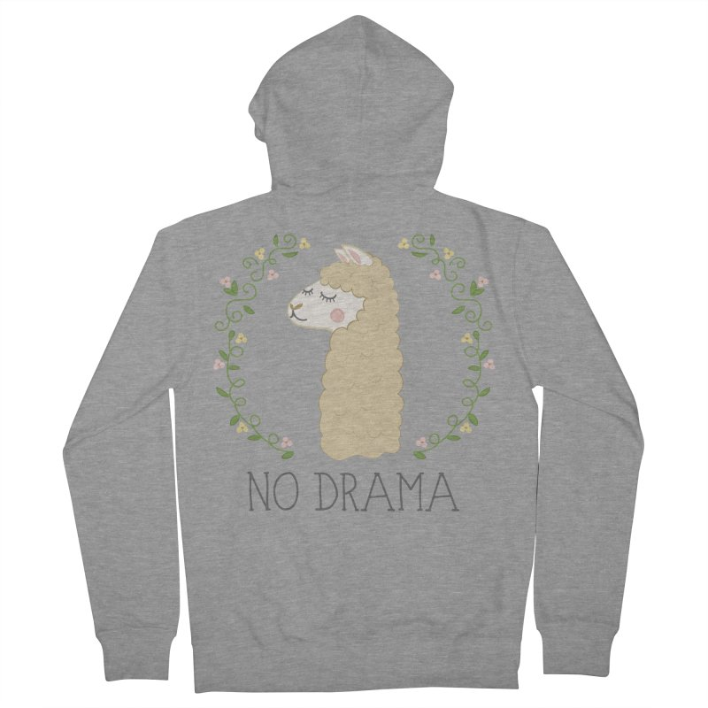 No Drama Llama Men's Zip-Up Hoody by Calobee Doodles