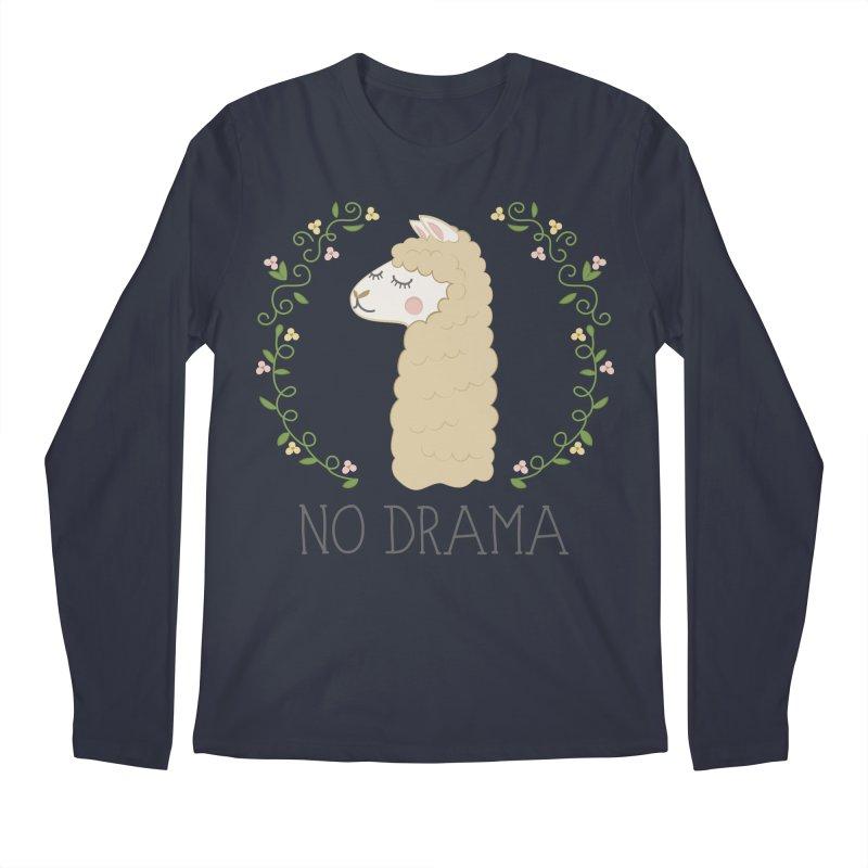 No Drama Llama Men's Regular Longsleeve T-Shirt by Calobee Doodles
