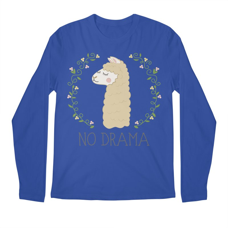 No Drama Llama Men's Regular Longsleeve T-Shirt by Calobee Doodles
