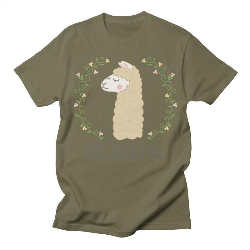 No Drama Llama Women's Unisex T-Shirt by Calobee Doodles