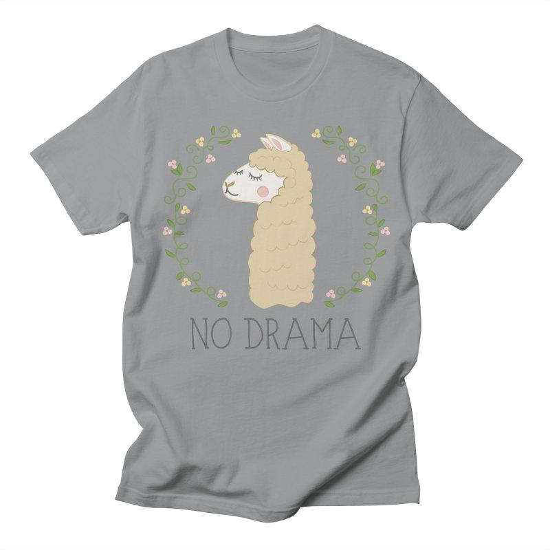 No Drama Llama Men's T-Shirt by Calobee Doodles