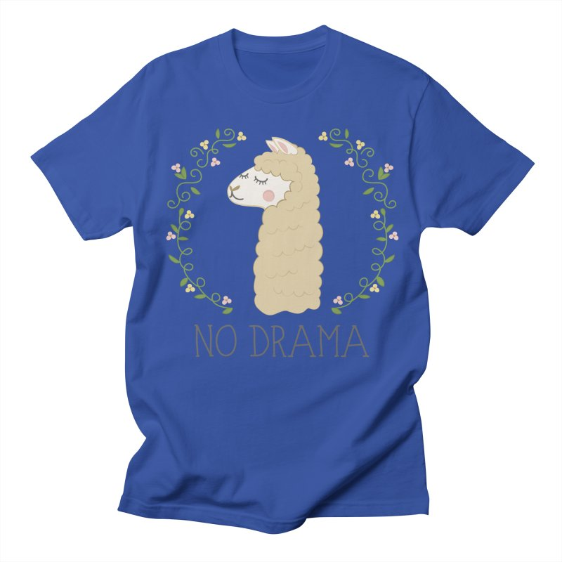 No Drama Llama Women's Regular Unisex T-Shirt by Calobee Doodles