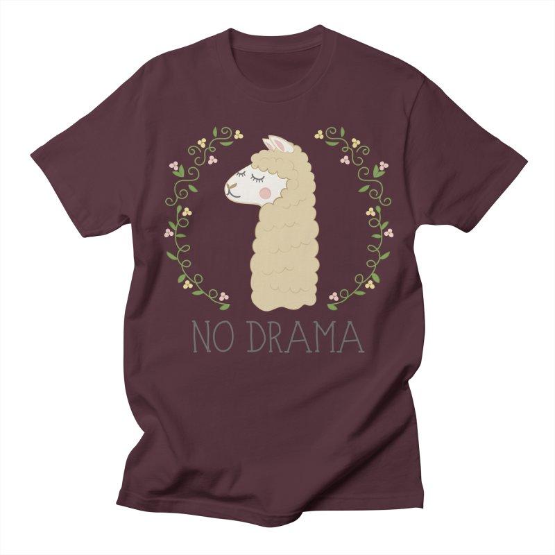 No Drama Llama Men's Regular T-Shirt by Calobee Doodles