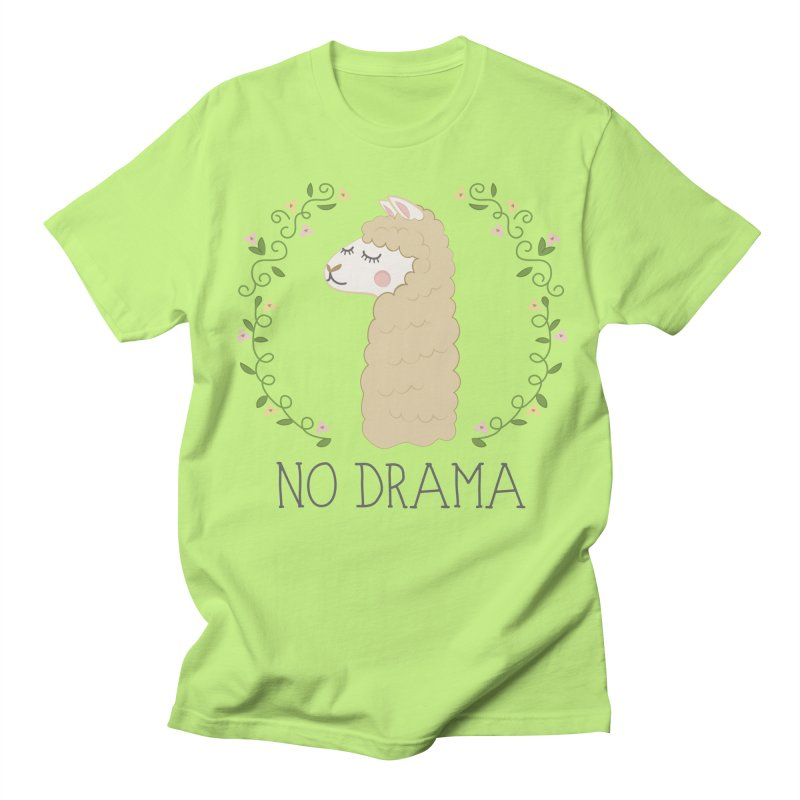 No Drama Llama Women's Regular Unisex T-Shirt by Calobee Doodles