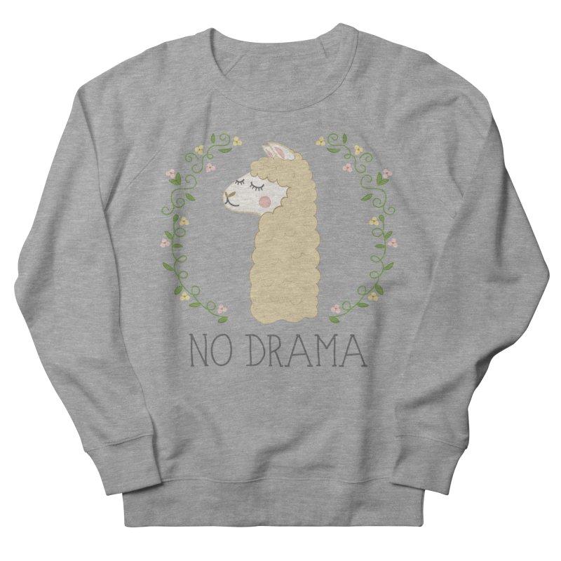 No Drama Llama Women's French Terry Sweatshirt by Calobee Doodles