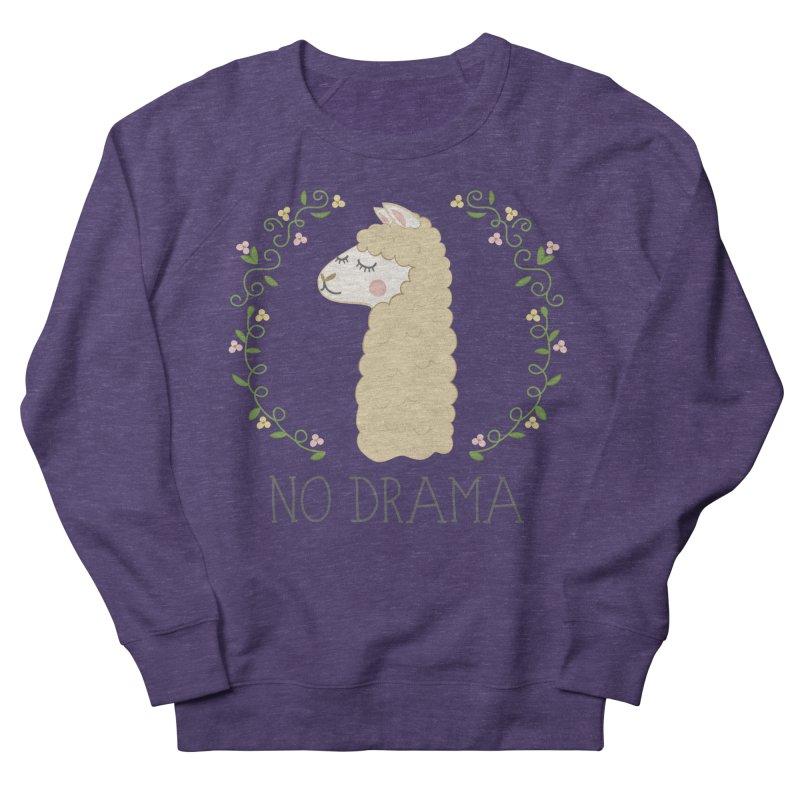No Drama Llama Men's French Terry Sweatshirt by Calobee Doodles