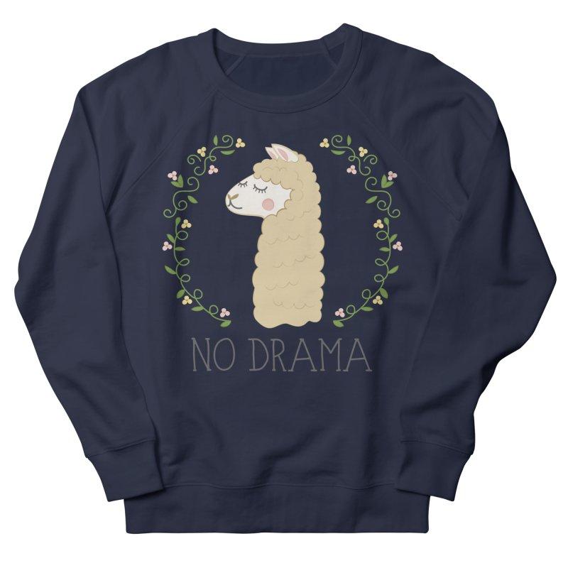 No Drama Llama Men's Sweatshirt by Calobee Doodles