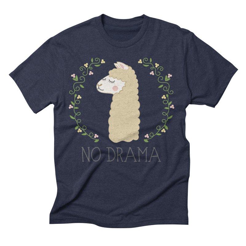 No Drama Llama Men's Triblend T-Shirt by Calobee Doodles