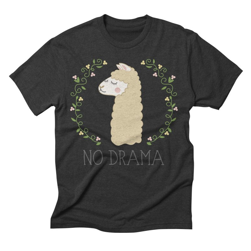 No Drama Llama Men's Triblend T-Shirt by Calobee Doodles