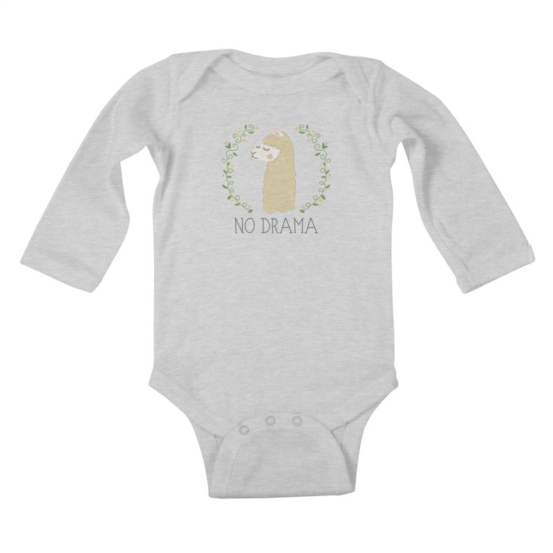 No Drama Llama Kids Baby Longsleeve Bodysuit by Calobee Doodles