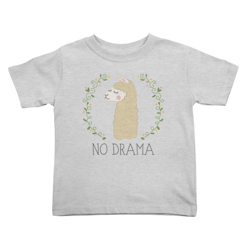 No Drama Llama Kids Toddler T-Shirt by Calobee Doodles