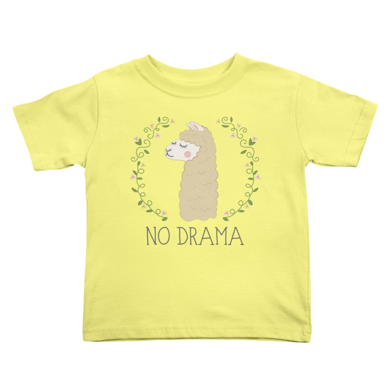 No Drama Llama Kids Toddler T-Shirt by Calobee Doodles