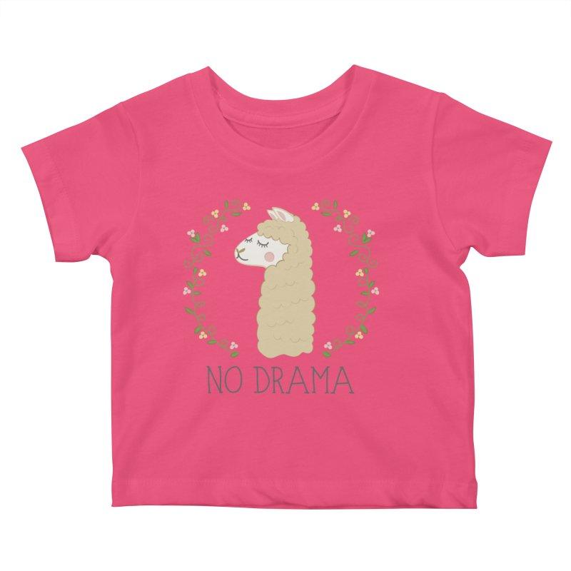 No Drama Llama Kids Baby T-Shirt by Calobee Doodles