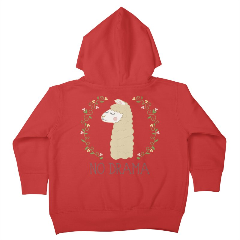No Drama Llama Kids Toddler Zip-Up Hoody by Calobee Doodles