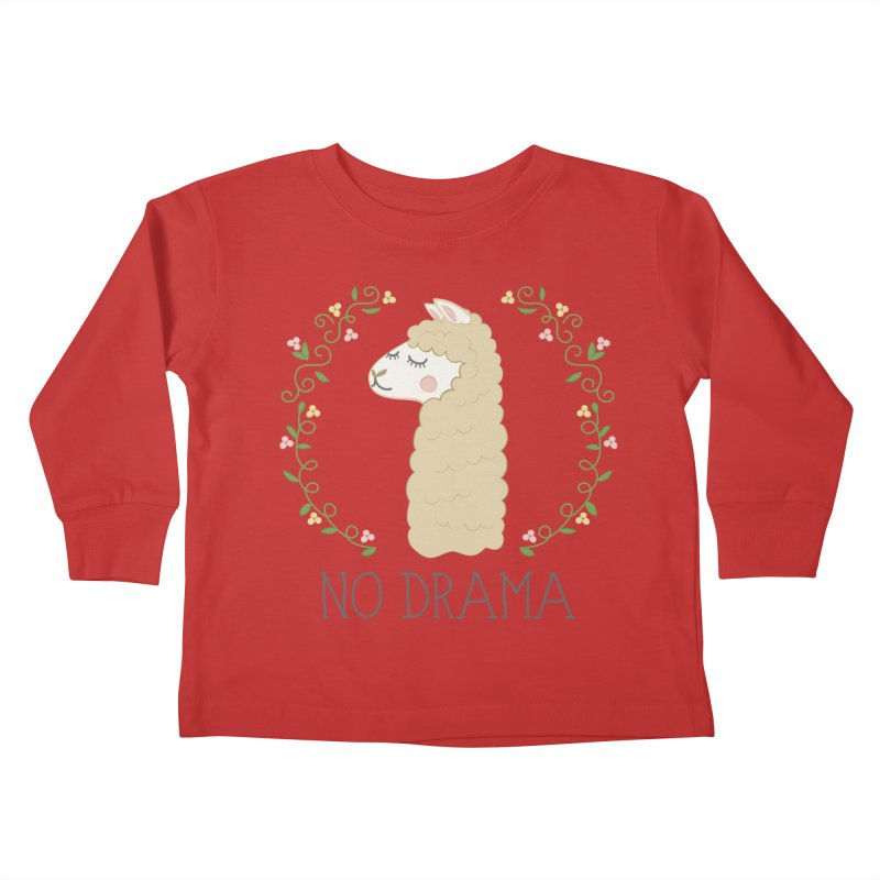 No Drama Llama Kids Toddler Longsleeve T-Shirt by Calobee Doodles