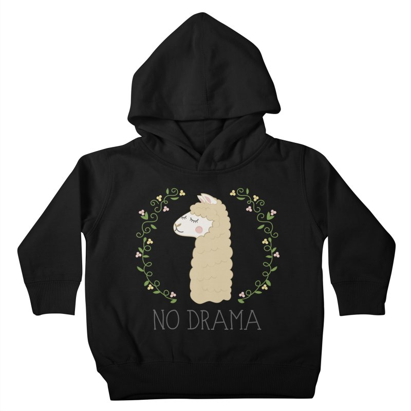 No Drama Llama Kids Toddler Pullover Hoody by Calobee Doodles