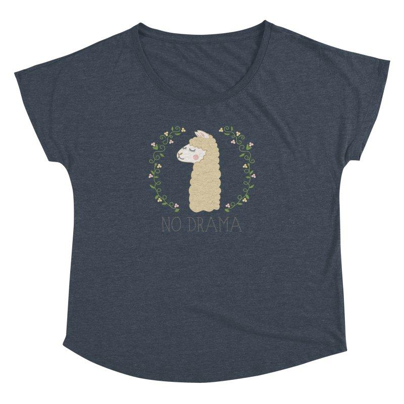 No Drama Llama Women's Dolman Scoop Neck by Calobee Doodles