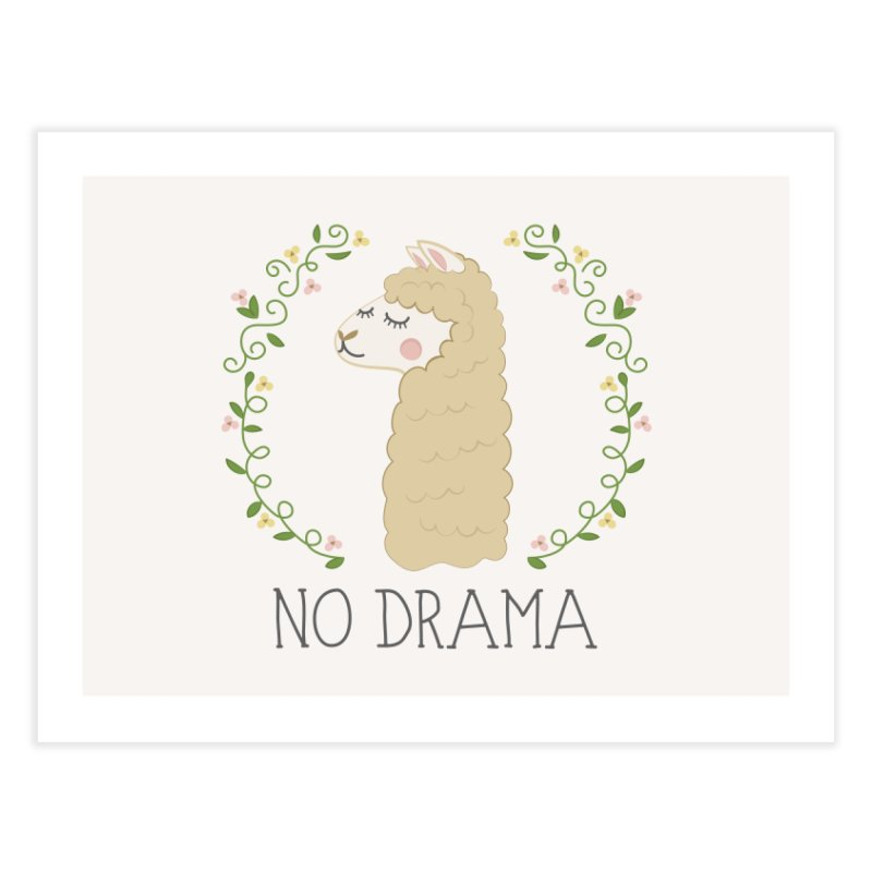 No Drama Llama Home Fine Art Print by Calobee Doodles