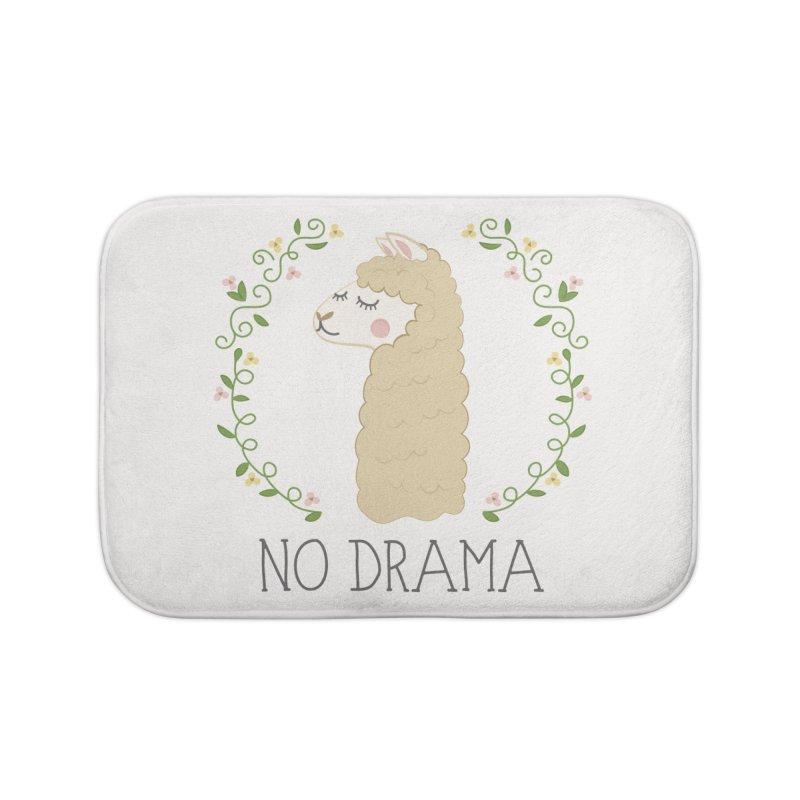 No Drama Llama Home Bath Mat by Calobee Doodles