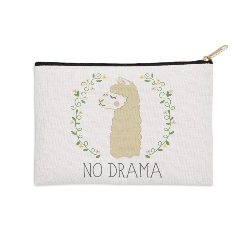 No Drama Llama Accessories Zip Pouch by Calobee Doodles