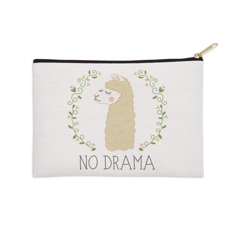 No Drama Llama Accessories Zip Pouch by Calobee Doodles