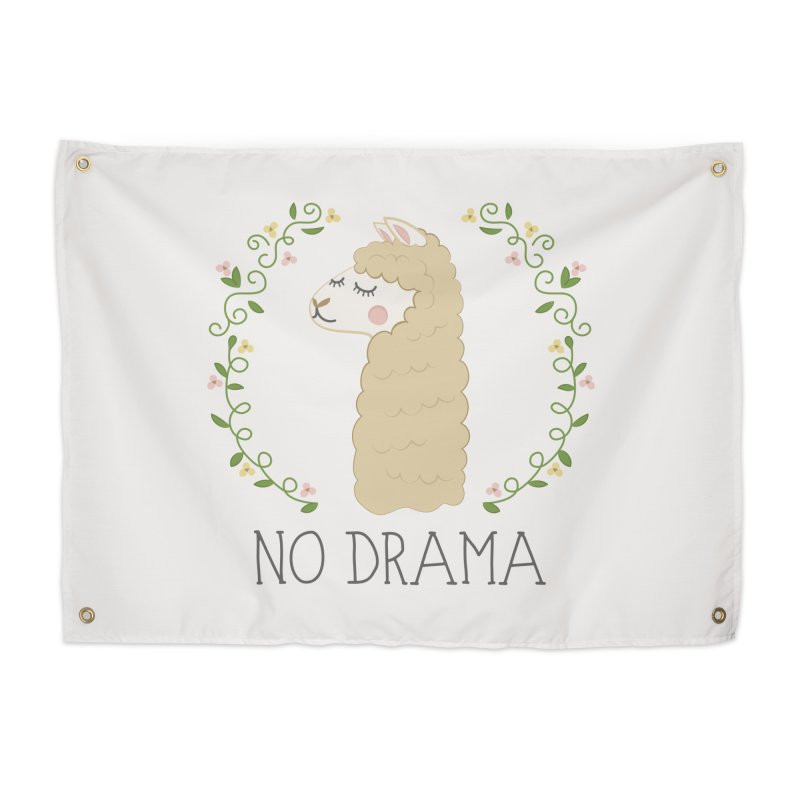 No Drama Llama Home Tapestry by Calobee Doodles