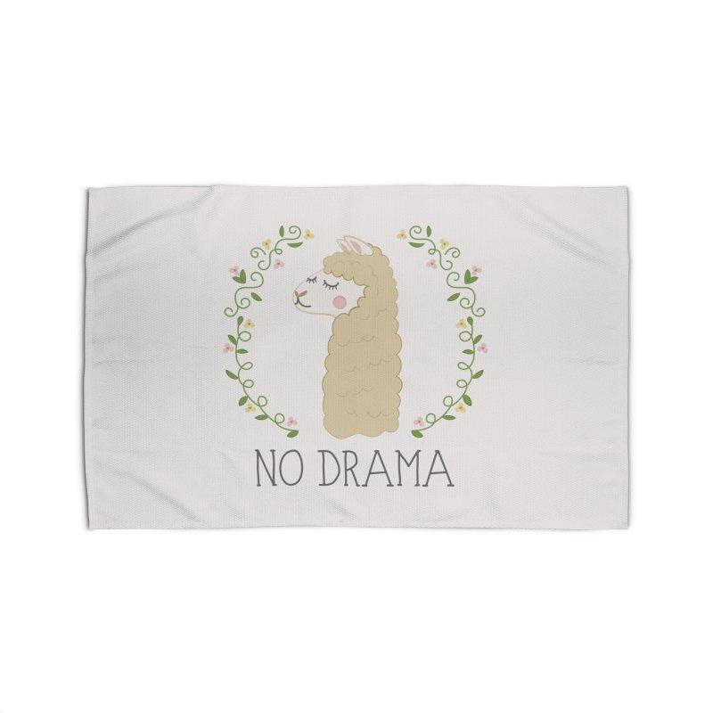 No Drama Llama Home Rug by Calobee Doodles