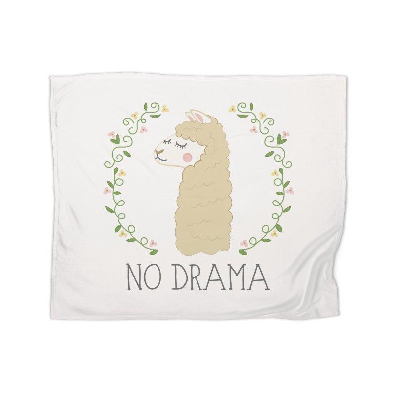 No Drama Llama Home Blanket by Calobee Doodles
