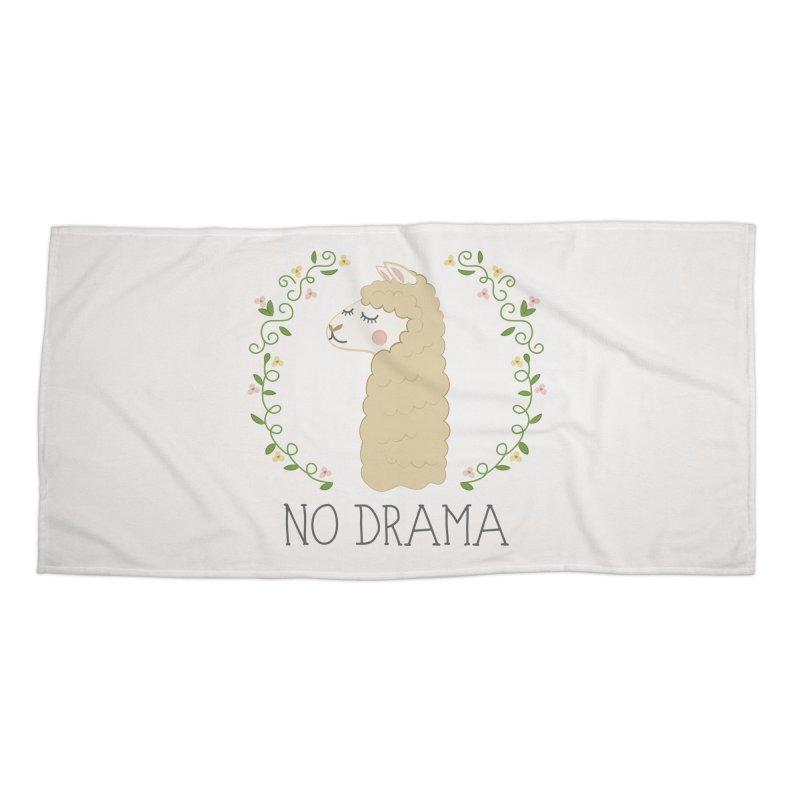No Drama Llama Accessories Beach Towel by Calobee Doodles