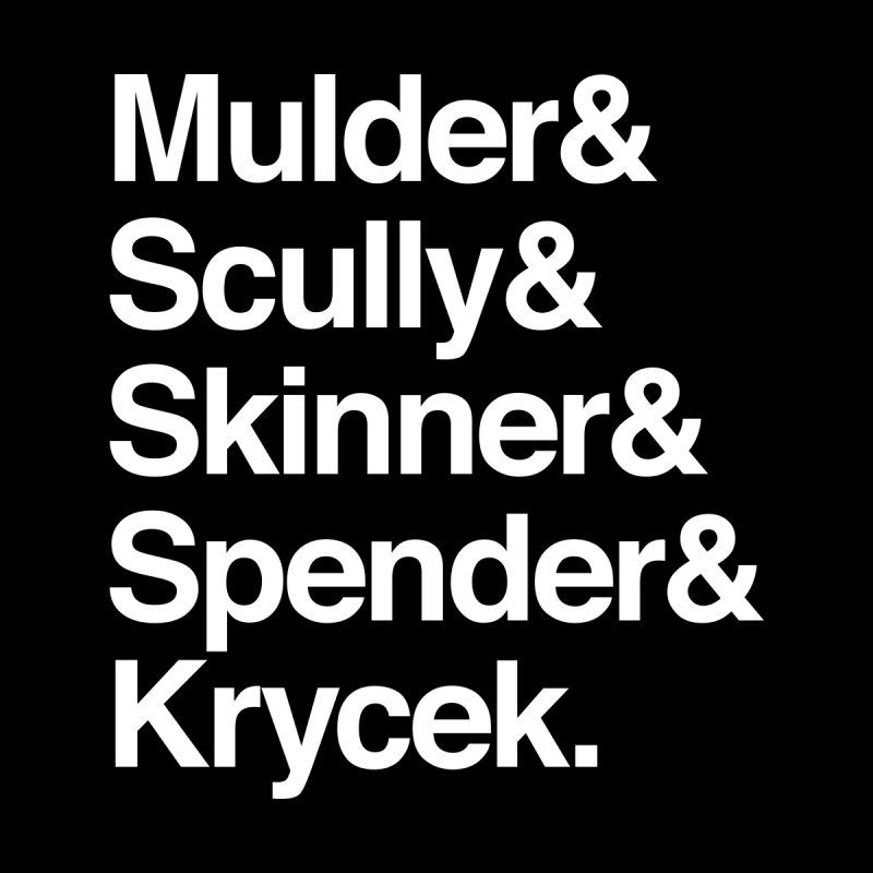 The X-Files in Helvetica - Mulder Scully Skinner Spender Krycek Women's Tank by Calobee Doodles
