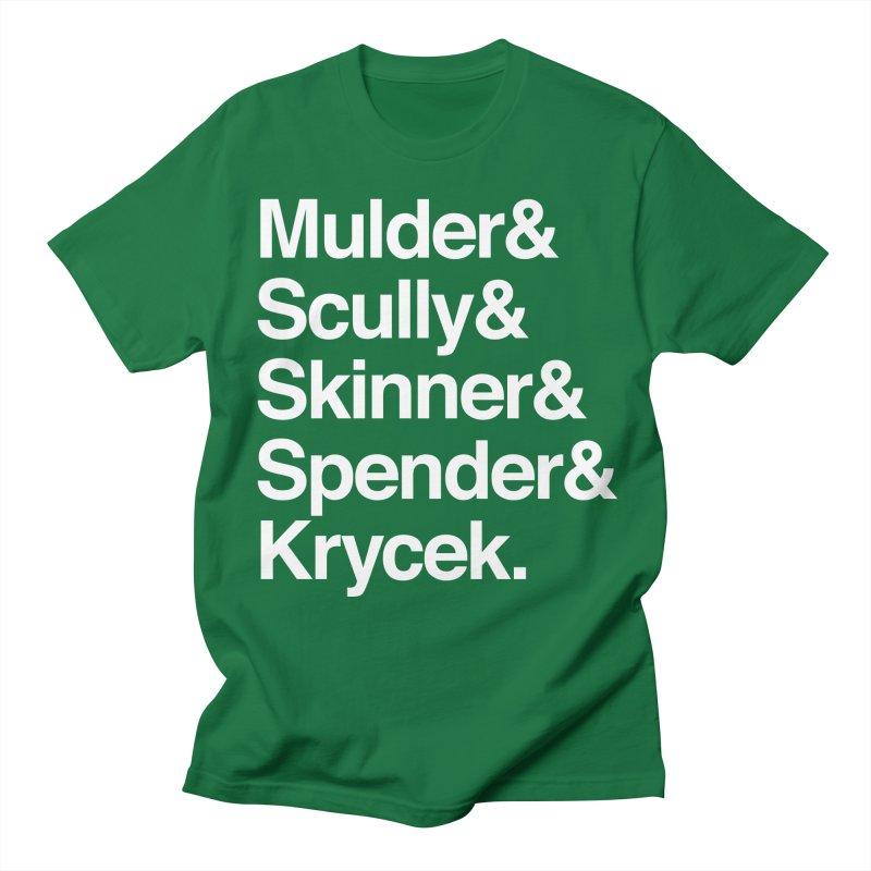 The X-Files in Helvetica - Mulder Scully Skinner Spender Krycek Women's Regular Unisex T-Shirt by Calobee Doodles