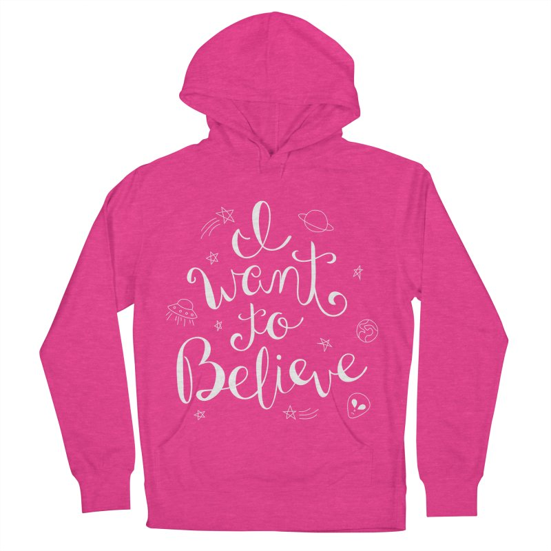 The X-Files - I want to believe Women's French Terry Pullover Hoody by Calobee Doodles