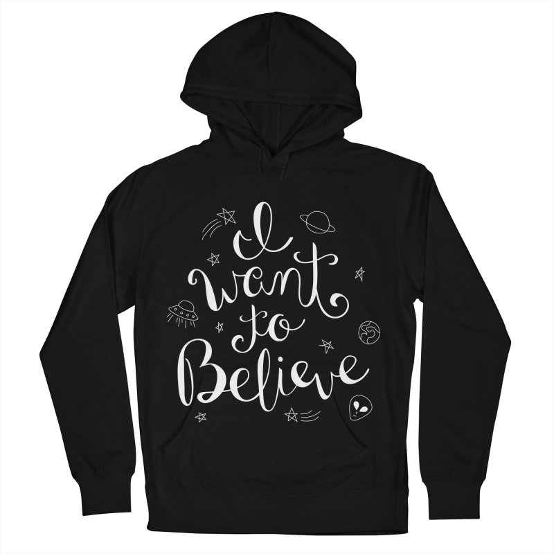 The X-Files - I want to believe Men's French Terry Pullover Hoody by Calobee Doodles