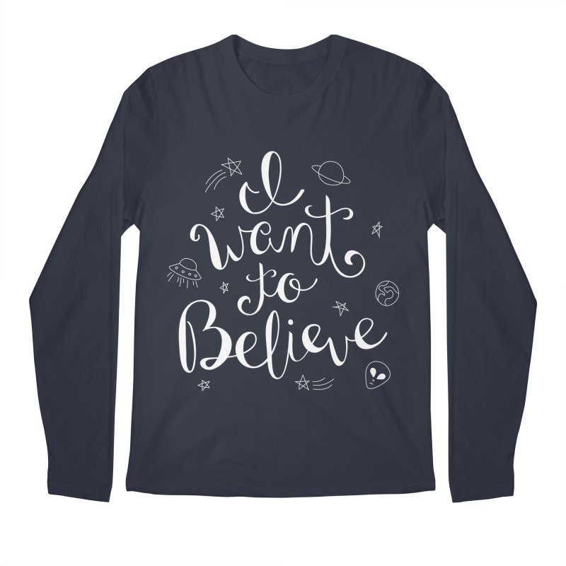 The X-Files - I want to believe Men's Regular Longsleeve T-Shirt by Calobee Doodles