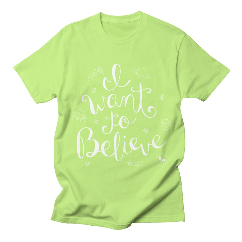 The X-Files - I want to believe Women's Regular Unisex T-Shirt by Calobee Doodles