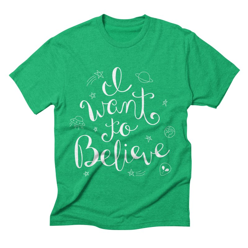 The X-Files - I want to believe Men's Triblend T-Shirt by Calobee Doodles
