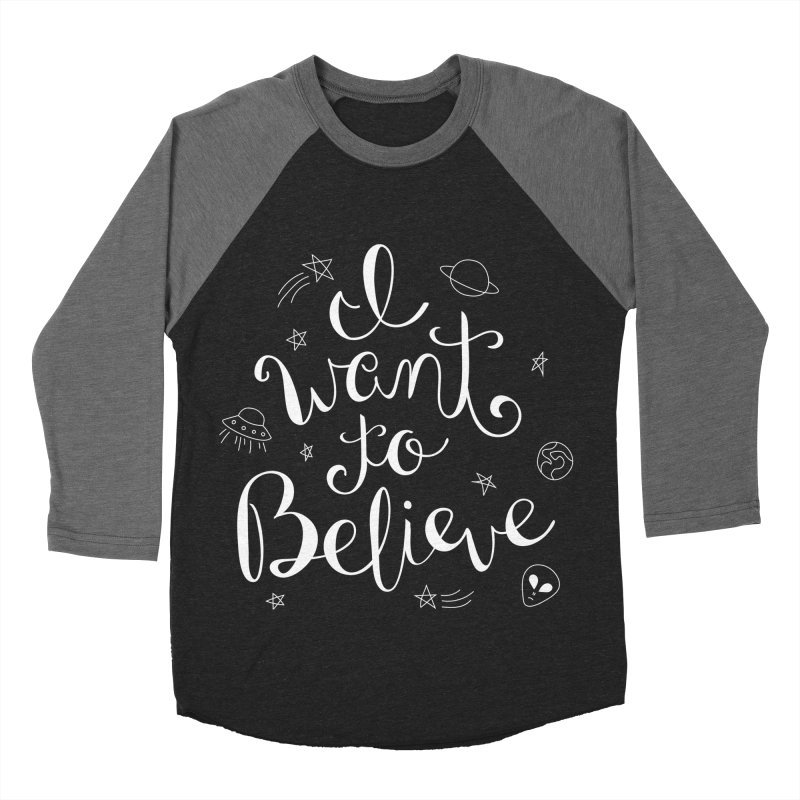 The X-Files - I want to believe Men's Baseball Triblend Longsleeve T-Shirt by Calobee Doodles