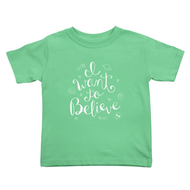 The X-Files - I want to believe Kids Toddler T-Shirt by Calobee Doodles