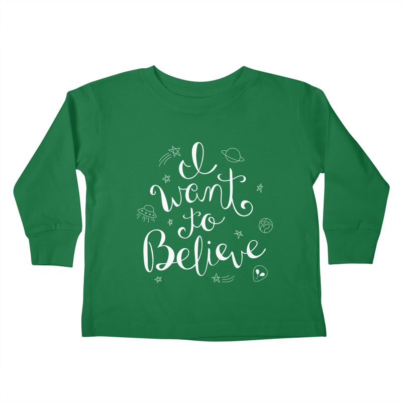 The X-Files - I want to believe Kids Toddler Longsleeve T-Shirt by Calobee Doodles
