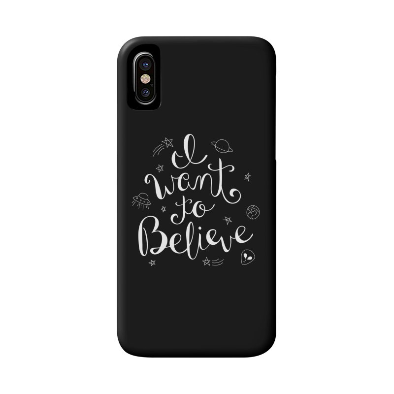 The X-Files - I want to believe Accessories Phone Case by Calobee Doodles
