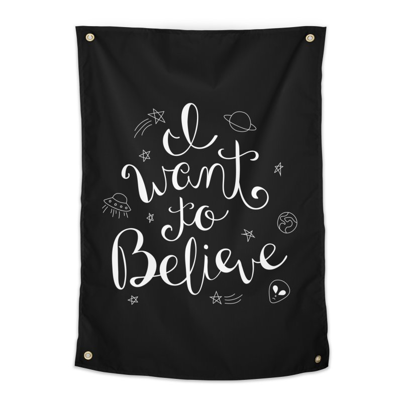The X-Files - I want to believe Home Tapestry by Calobee Doodles