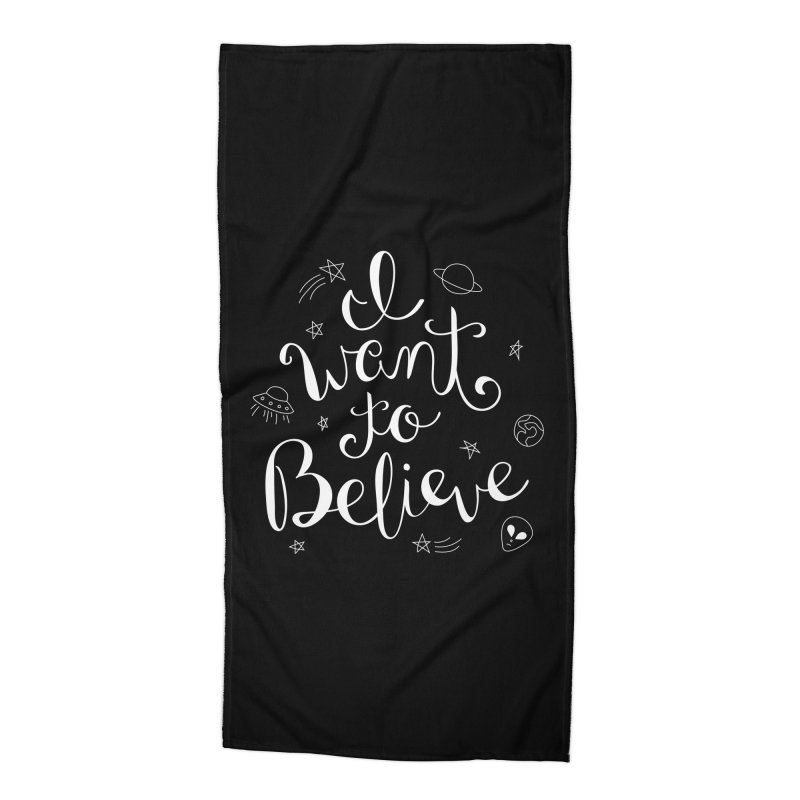 The X-Files - I want to believe Accessories Beach Towel by Calobee Doodles