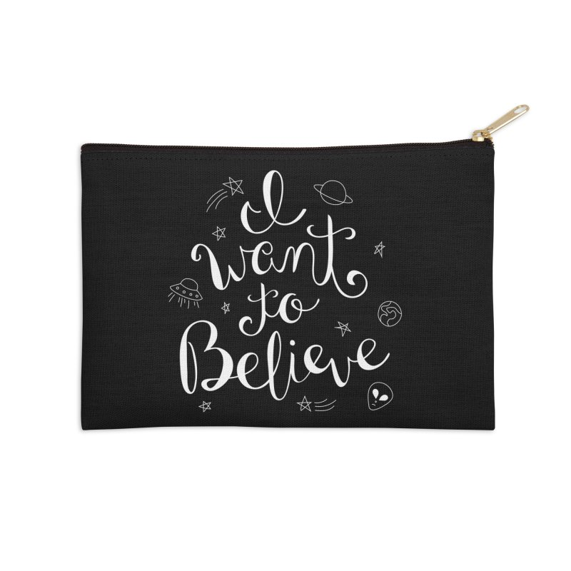 The X-Files - I want to believe Accessories Zip Pouch by Calobee Doodles