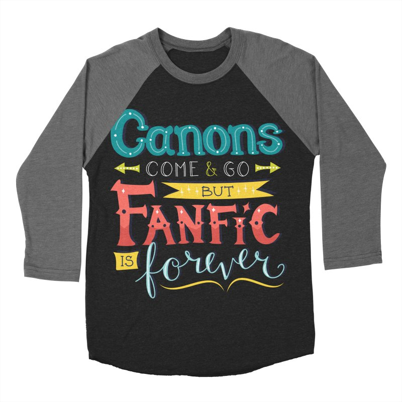 Fanfic is Forever Women's Baseball Triblend Longsleeve T-Shirt by Calobee Doodles