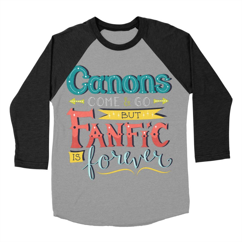 Fanfic is Forever Men's Baseball Triblend Longsleeve T-Shirt by Calobee Doodles